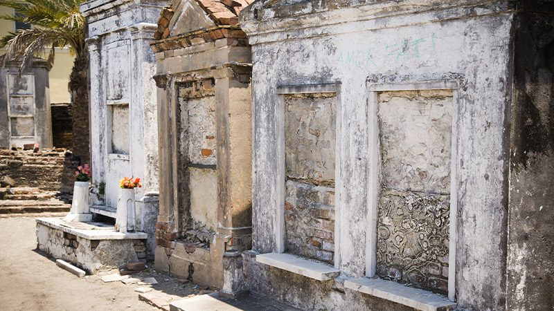 Some centuries-old crypts at St. Louis Cemetery in New Orleans.