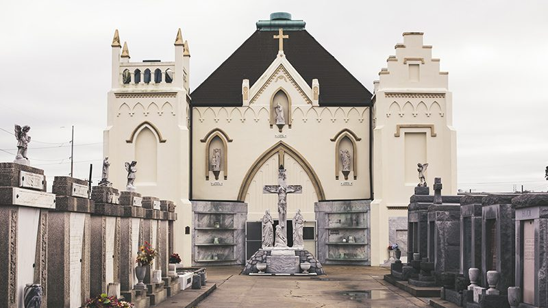 The St. Roch Chapel in St. Roch Cemetery in New Orleans.