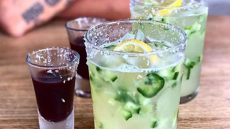 A selection of drinks available at The Mexican in Port Douglas.