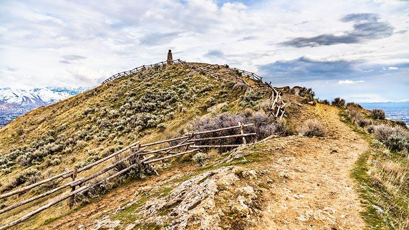 The summit at Ensign Peak in Salt Lake City.
