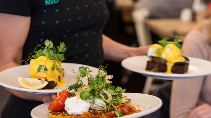 A collection of breakfast dishes available at Neo Cafe & Eatery in Wellington.