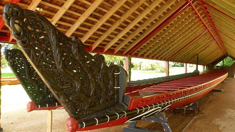 Maori canoe at the Waitangi Treaty Grounds