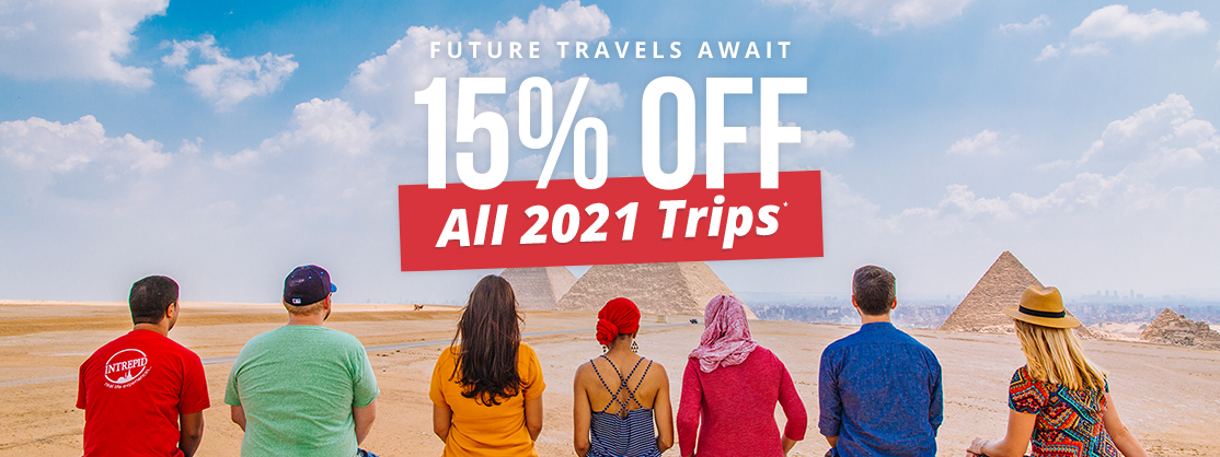 15% Off all 2021 trips