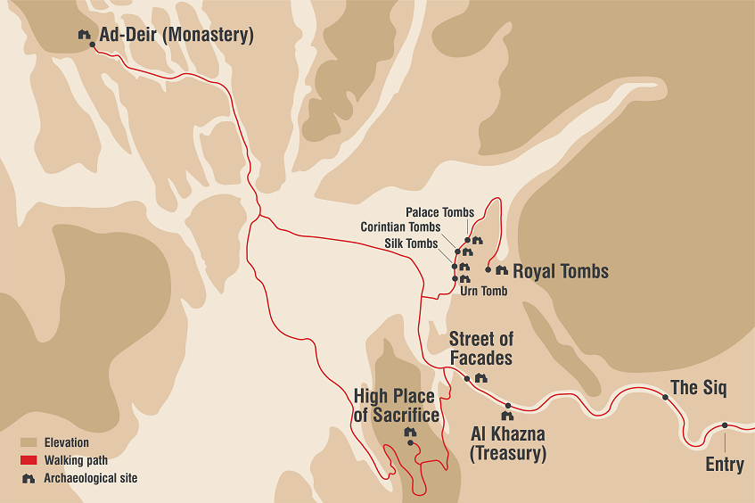 Check out our detailed map of Petra, Jordan's ancient city.