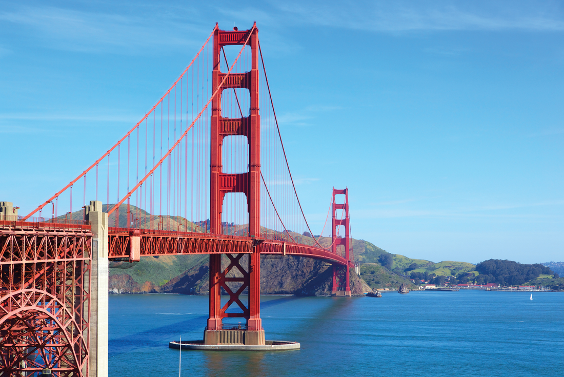 View of Golden Gate Bridge in San Francisco