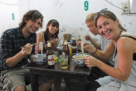 Enjoy a bia hoi with your street food in Vietnam.