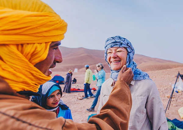 Light, breathable clothing is recommended in Morocco