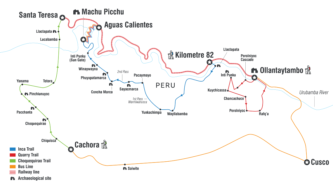 All Intrepid tours on the Inca Trail and Quarry Trails