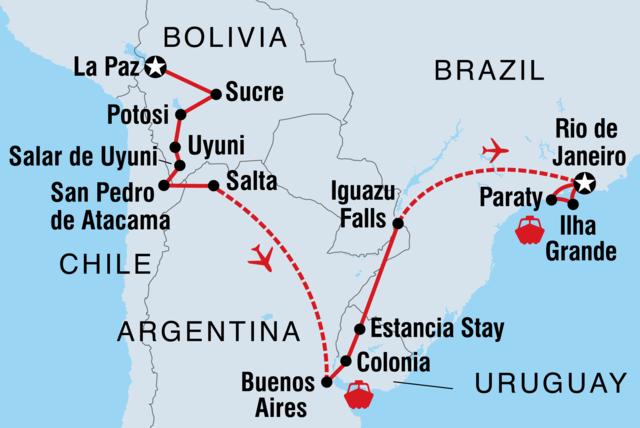 Explore Bolivia To Brazil La Paz Rio De Janeiro