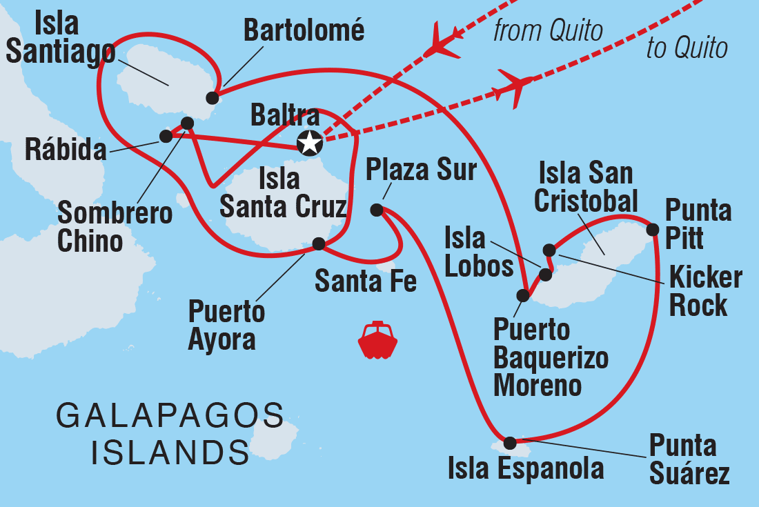 Galapagos Voyager - Central Islands (Grand Queen Beatriz) | Intrepid ...
