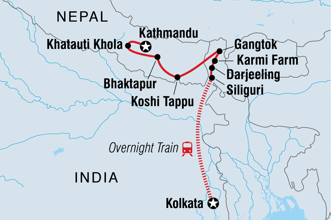kolkata to kathmandu overland  india tours  intrepid travel -