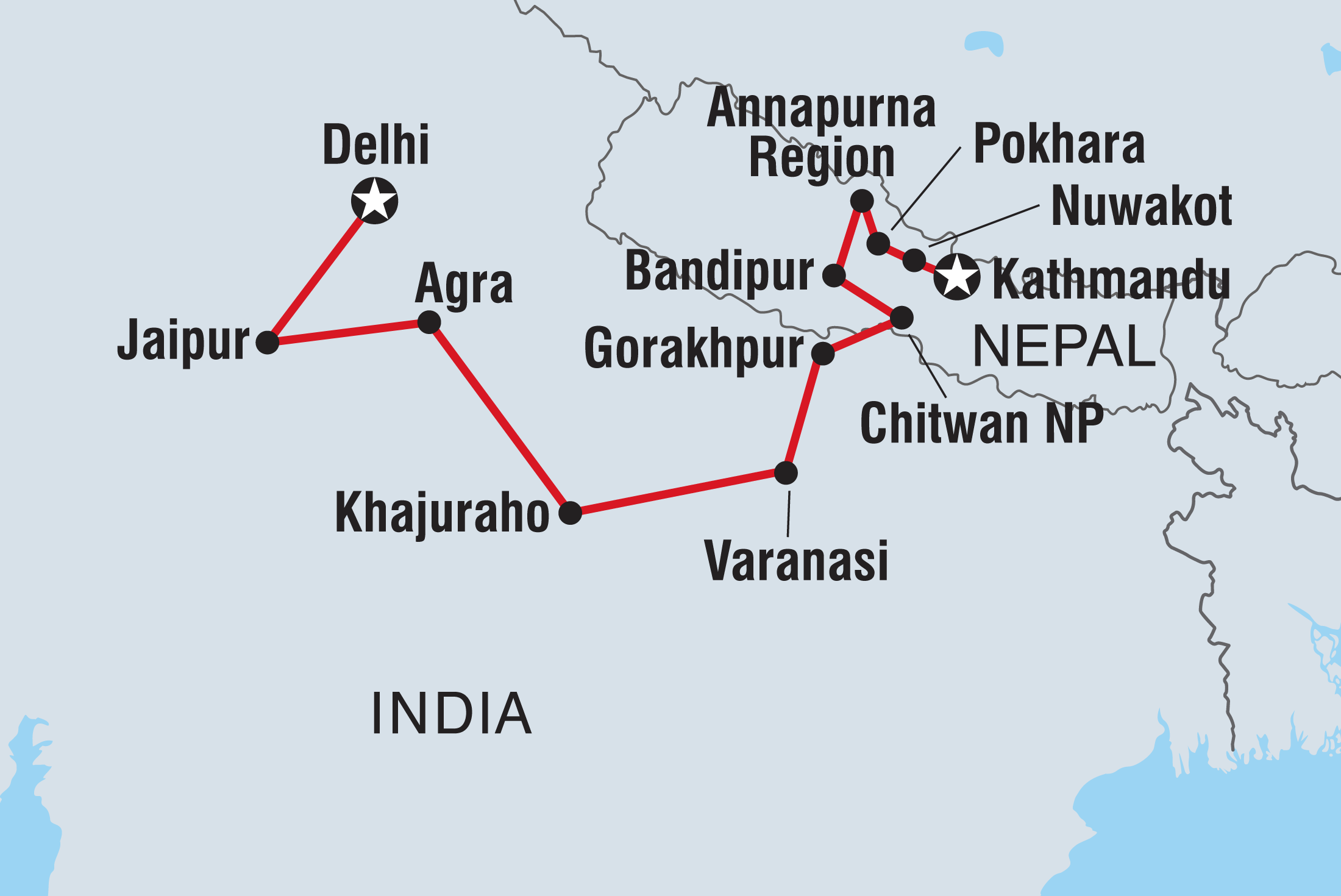 Kathmandu To Delhi Overland Intrepid Travel Us Moonshine Diagram Related Keywords Suggestions