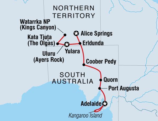 Map Of Australia Kangaroo Island.Outback Kangaroo Island Adventure Intrepid Travel Au