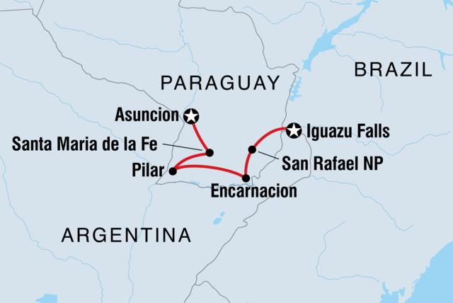 Paraguay Asuncion To Iguazu Expedition Intrepid Travel US - Where is asuncion