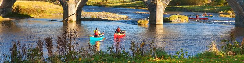 Canoeing the River Wye, England UK