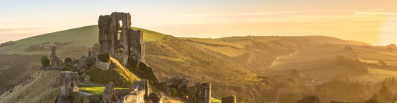 BMXJ - Corfe Castle Sunset Banner - 1920x500