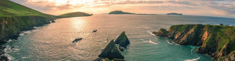 BWKR - Ireland - Dingle Peninsula at Sunset - Banner - 1920x500