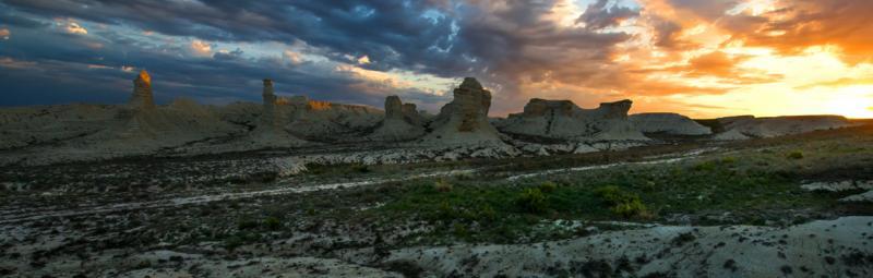 Kazakhstan desert sky sunset desert