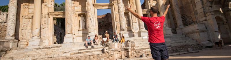 Turkey Highlights with Intrepid Travel - Ephesus ruins