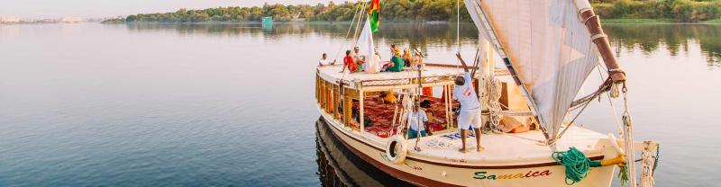 Set sail down the Nile on a traditional Egyptian Felucca
