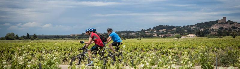 Cycling in Chateauneuf, Provence