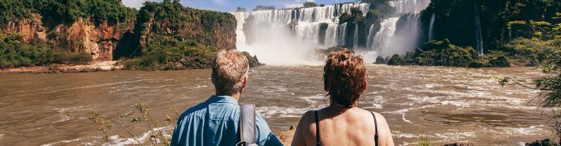 GGPBC - Couple standing in front of Iguazu Falls, Argentina