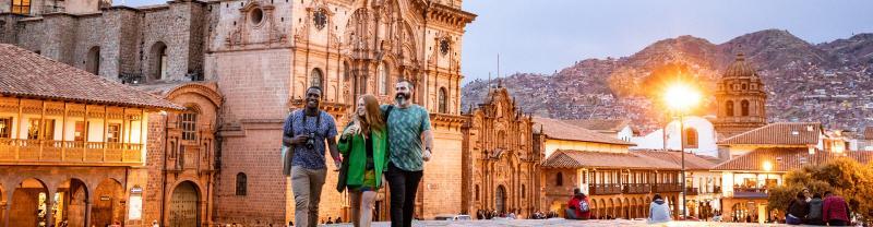 GGPEC - Travellers walking near Cusco Cathedral, Peru