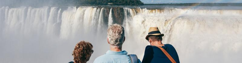 GGPNC - Group of travellers admiring Iguazu Falls in Argentina