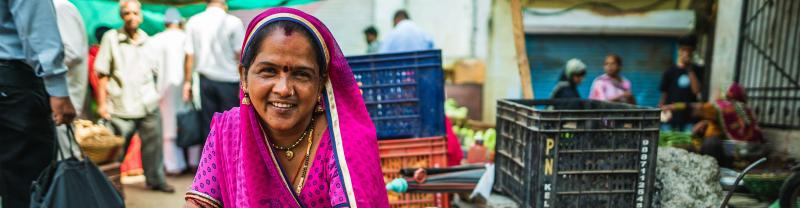 India, Udaipur, Woman