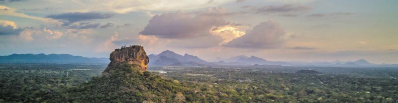 HPPS - View of Sigiriya Lion Rock at sunset