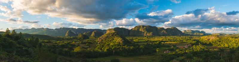 Panoramic view of the vinales horizon, cuba