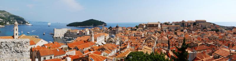 croatia dubrovnik dalmatia panorama