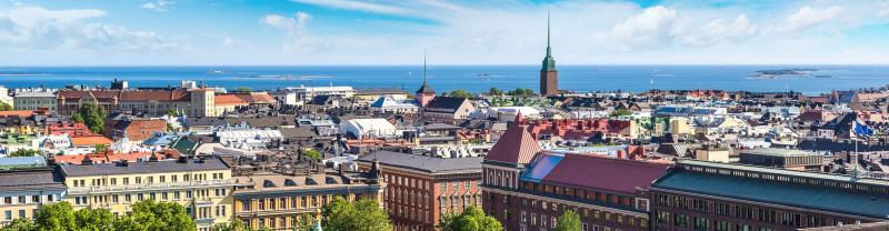 Intrepid Travel finland helsinki skyline banner