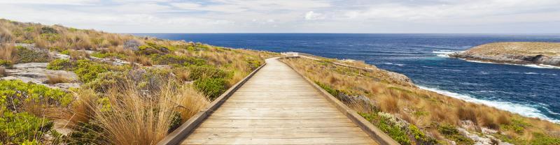 Boardwalk to the coast in Kangaroo Island, South Australia