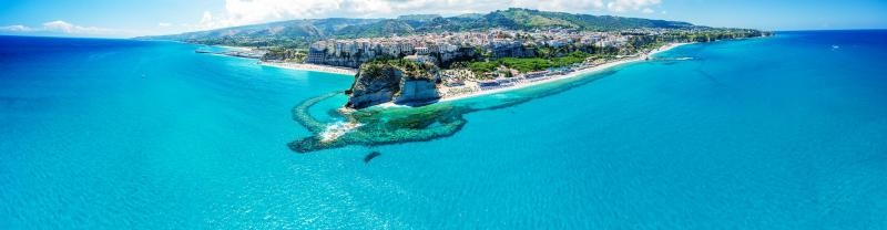 The beautiful town of Tropea on the coast of Calabria in Italy