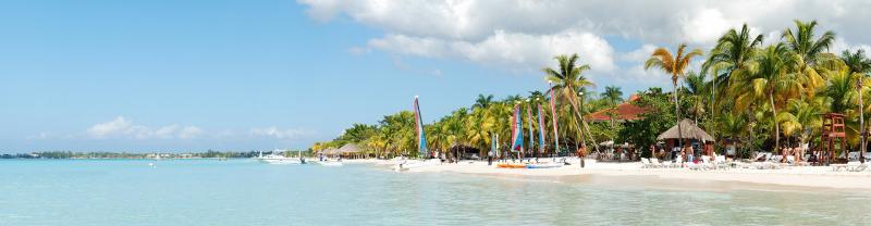 Panoramic view of Negril Beach, Jamaica