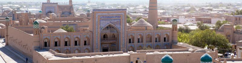 Uzbekistan, Khiva, Aerial view