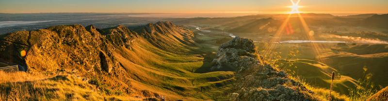 New Zealand Hawkes Bay Te Mata Peak Aerial View