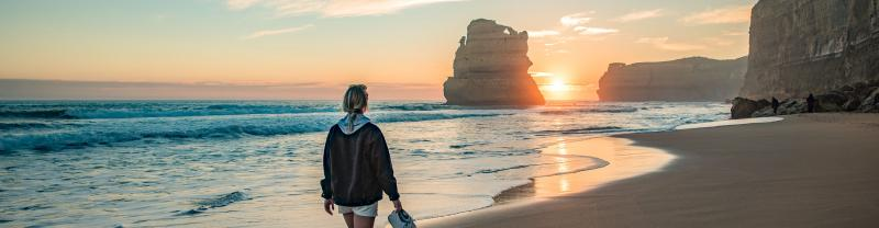 The amazing Great Ocean Road is only an hour outside of Melbourne