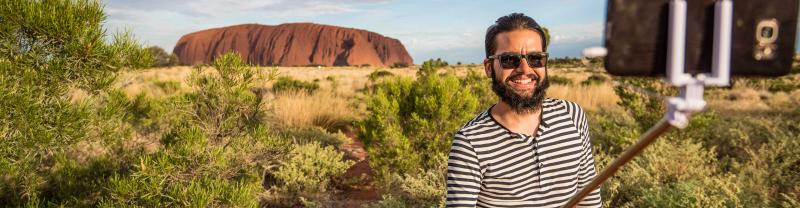 Uluru Adventure, departing Yulara with Intrepid Travel