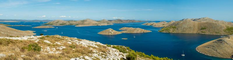 Cruise along the Dalmatia coast in Croatia, featuring Kornati National Park