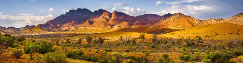 The Flinders Ranges at golden hour, South Australia