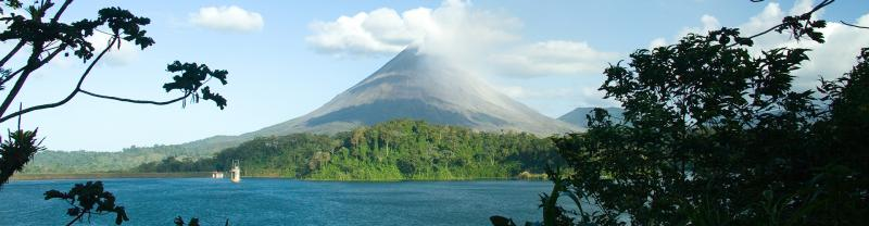 Volcano in Costa Rica on Peregrine Adventure Cruise