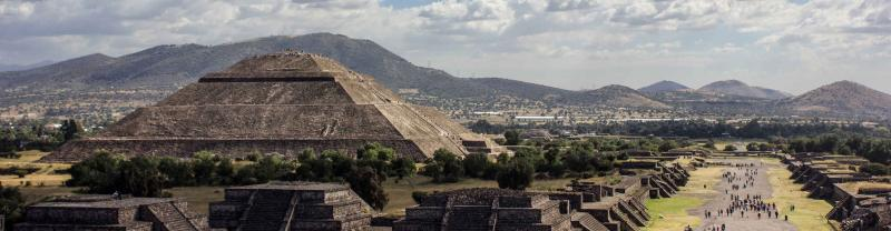 View of Teotihuacan mexico