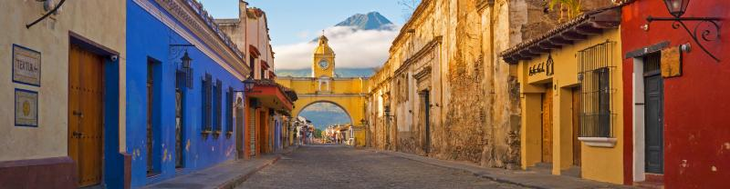 Walk the streets of beautiful Antigua, Guatemala