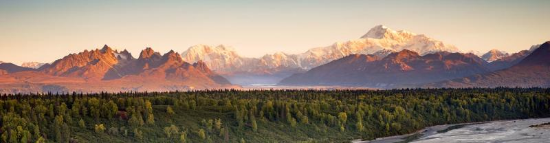 SAXD - View of Mount McKinley in Denali National Park, Alaska