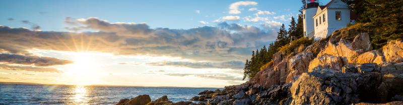 SSXM - Bass Harbor lighthouse at sunset