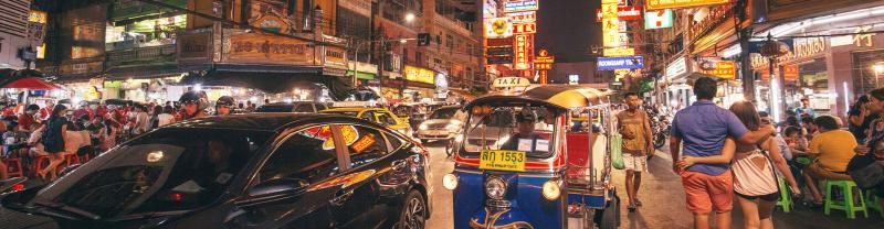 TTPT - City night life and lights in Bangkok
