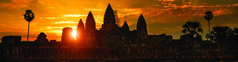 Sunrise at Angkor Wat, Siem Reap in Cambodia