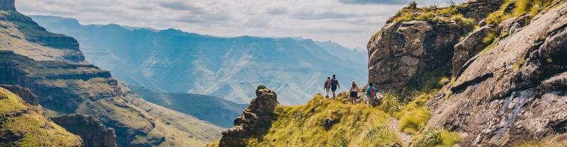Take a hike through the Drakensberg mountain range in South Africa